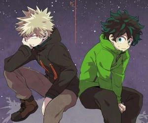 boku no hero academia, izuku midoriya, and katsuki bakugo image