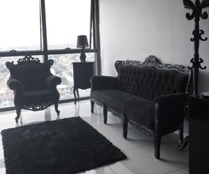 apartment, black and white, and goth image