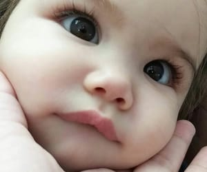 baby, cheeks, and sweet image