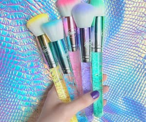 Brushes, colourful, and cosmetic image