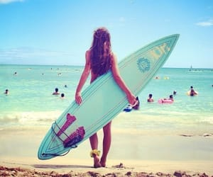 beach, sand, and board image