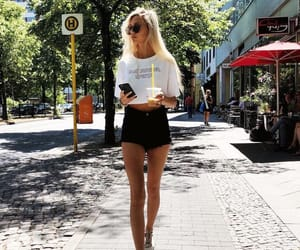coffee, pretty, and blonde image