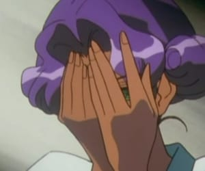 purple, shy, and old anime image