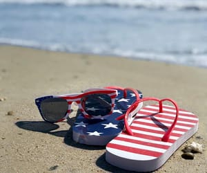 beaches, beachlife, and fourth of july image
