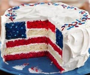 cake, flag, and food image