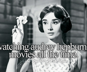 audrey hepburn, movies, and love image