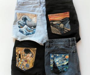 art, fashion, and shorts image