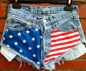 american, american flag, and cut offs image