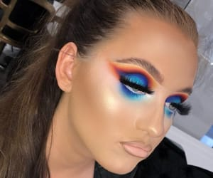 colorful, bright makeup, and slay image