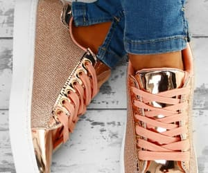 sneakers and rose gold image