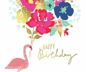colors, flamingo, and flowers image