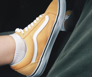 old skool, vans, and yellow image