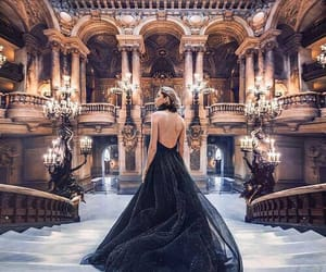 dress, black, and photography image