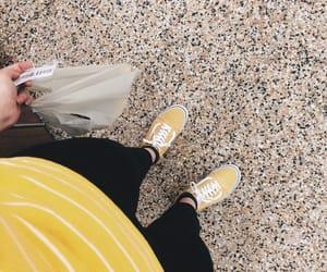 stripes, vans, and yellow vans image