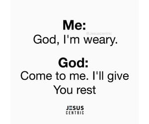god, peace, and rest image