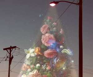 flowers, art, and night image