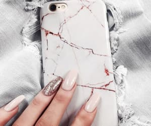 marble, nails, and phone image