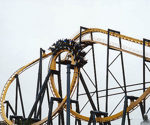 Roller Coaster, batman the ride, and six flags over texas image
