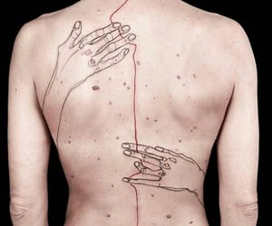 back, hands, and man image
