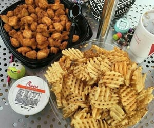 food, chick fil a, and chicken nuggets image
