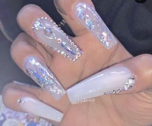 money, nails, and pretty image