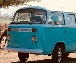 photography, turquoise, and van image