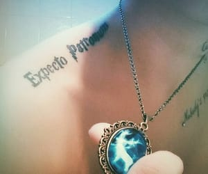 harry potter, necklace, and tattoo image