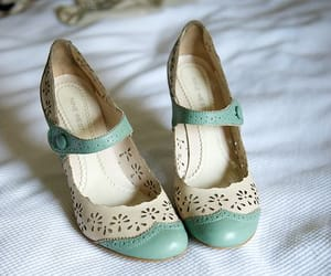 pastel shoes, mary jane shoes, and mint shoes image