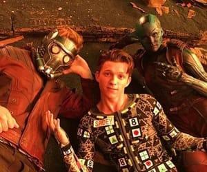 tom holland, chris pratt, and Marvel image
