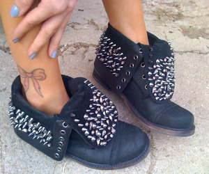 shoes, tattoo, and black image
