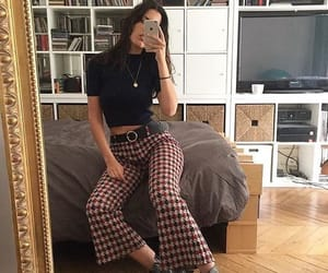 black, outfit, and casual image