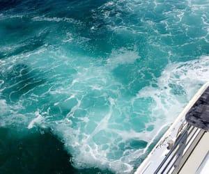 blue, Island, and sea image