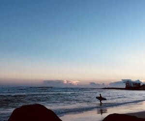 australia, praia, and sunset image