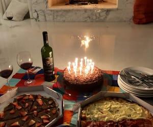 birthday, cake, and fireplace image