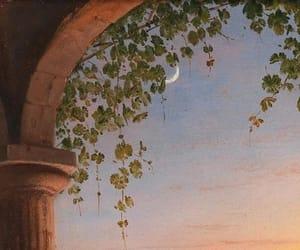 moon, art, and sky image