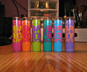 baby lips, makeup, and colorful image