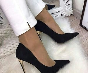 black, chaussure, and heels image