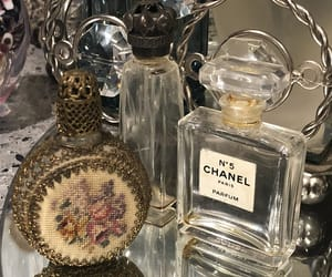 chanel, perfume bottles, and antiques image