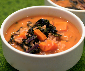 curry, kale, and rice image