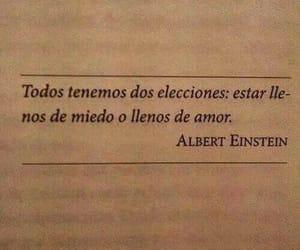 Albert Einstein, frases, and miedo image