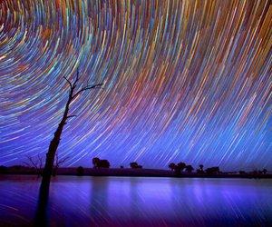 stars, beautiful, and galaxy image