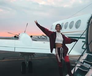 elisha herbert, airplane, and travel image