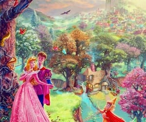 disney, sleeping beauty, and background image