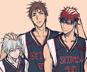 kuroko no basket, kagami taiga, and kuroko tetsuya image