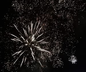 fireworks, galaxy, and stardust image