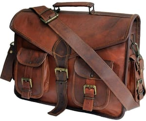leather satchel, vintage leather bags, and leather messenger bags image
