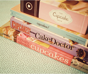books and cupcake image