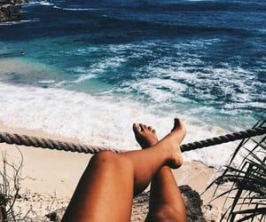 summer, beach, and legs image