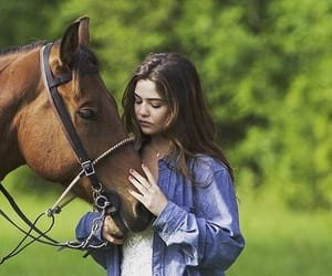 horse, danielle campbell, and girl image