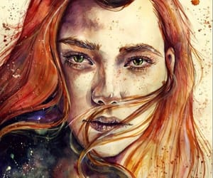 watercolour, watercolour painting, and watercolour portraits image